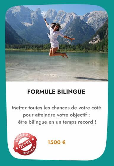 cours de langue formule bilingue